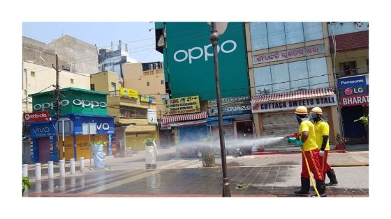 sanitization conducted in bbsr