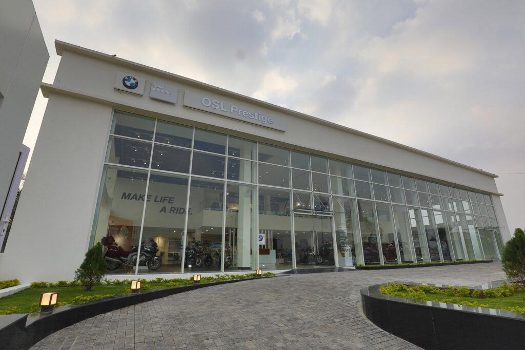 superbike showroom of BMW