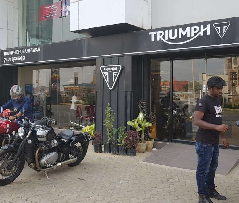 superbike showroom of triumph