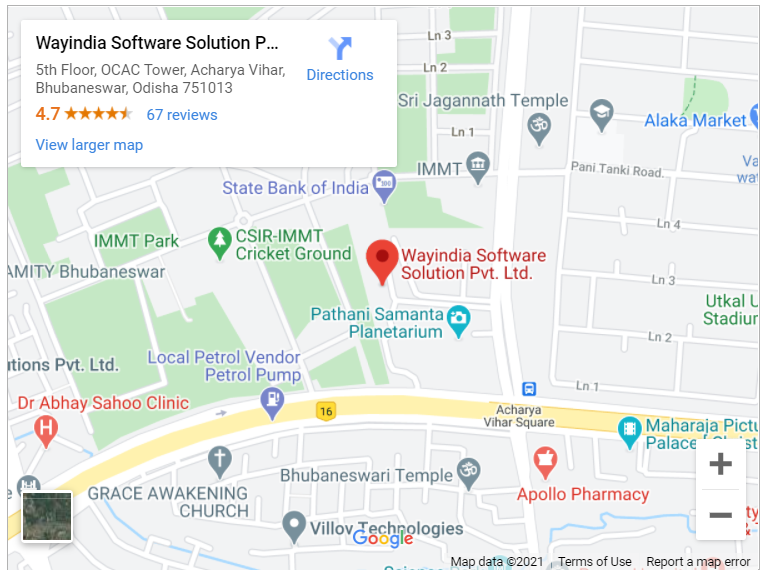 Google map for Wayindia Software Solution Pvt. Ltd, Bhubaneswar, Odisha