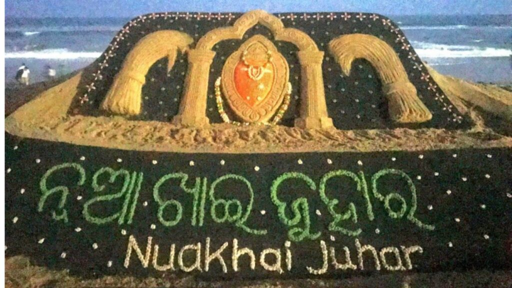 sand image for welcoming Nuakhai