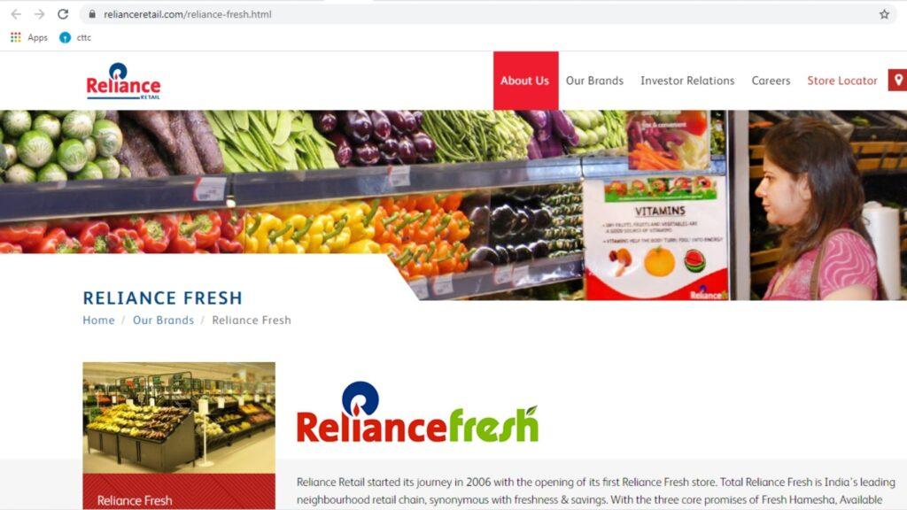 Reliancefresh online grocery in bhubaneswar