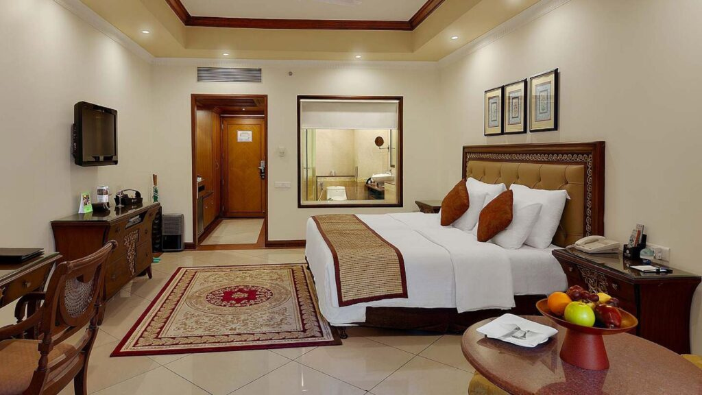 Guest room of the Bhubaneswar Club