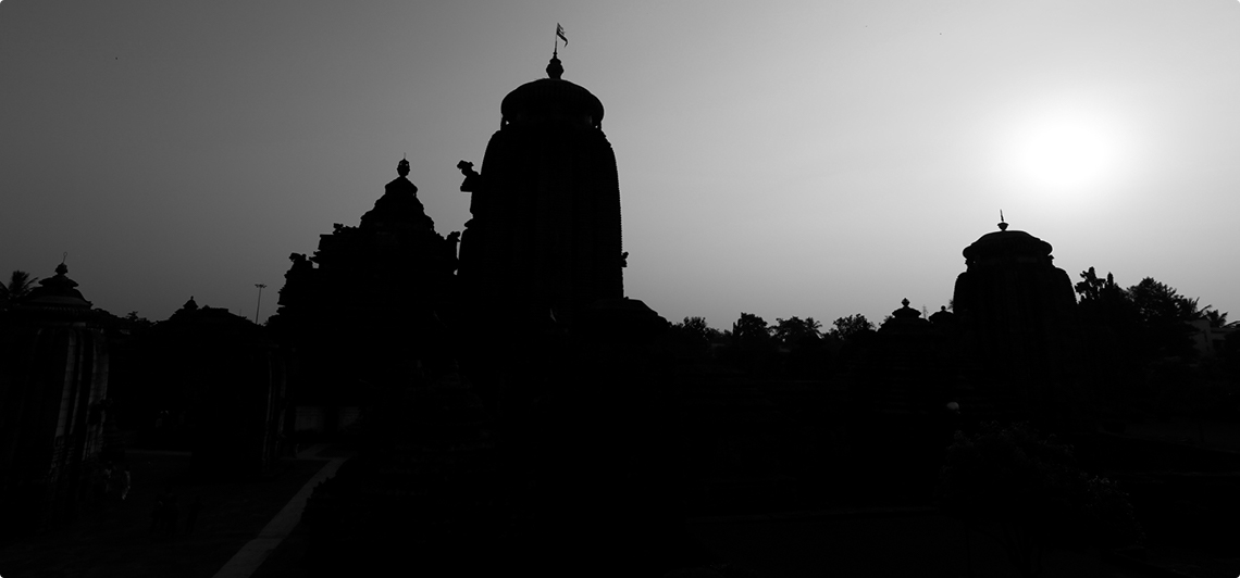 Sunset at Lingaraj Temple